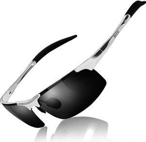 Duco Lunettes de soleil sport polarisées - Monture en métal Incassable